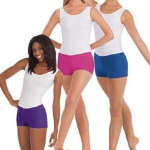 Lycra Purple booty shorts
